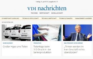VDI-nachrichten: 3D-Druck in der Serienproduktion