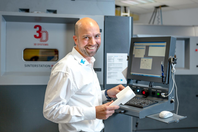 Markus Albrecht im RP-Bereich von Kegelmann Technik